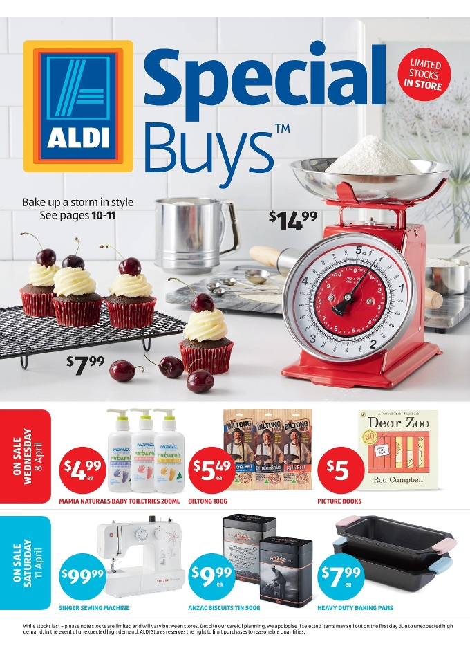 ALDI Special Buys Week 40 April 2040 Unique Aldi Sewing Machine 2016