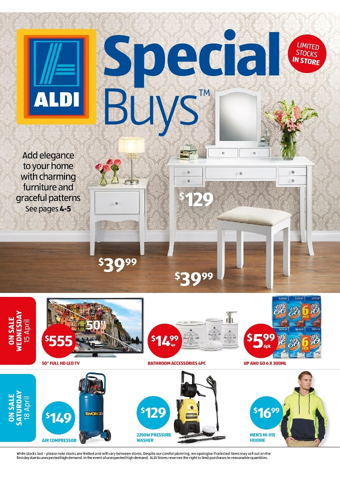 Aldi Special Buys Week 16 April 2015