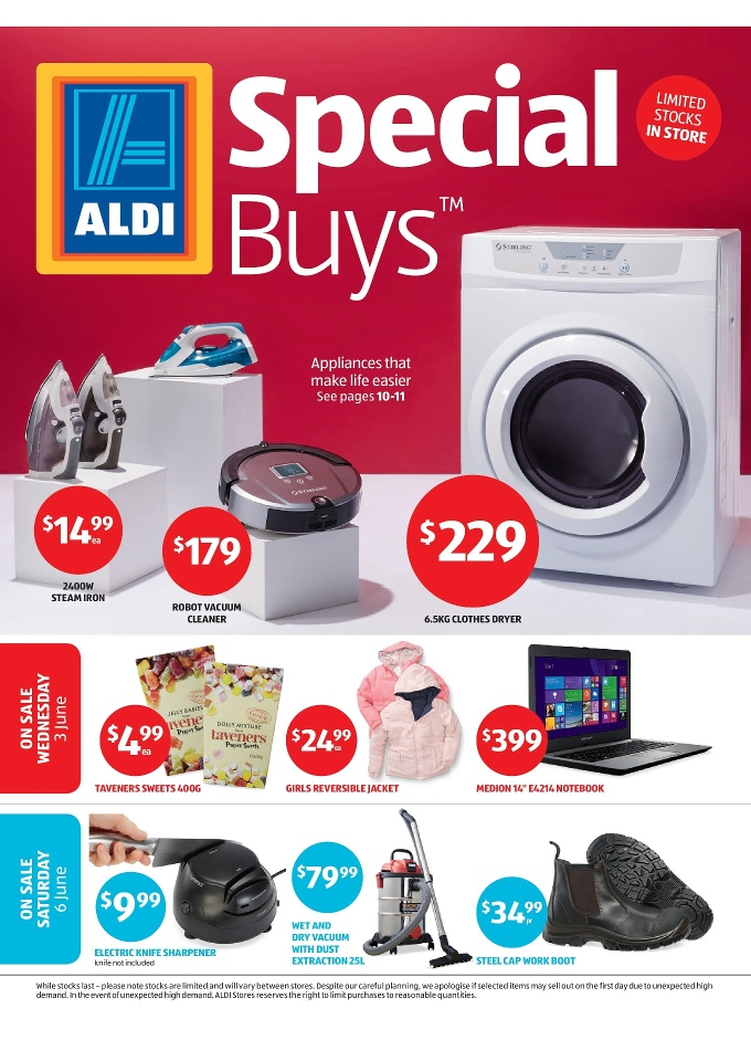 Aldi Special Buys Week 23 Home Appliances June 2015