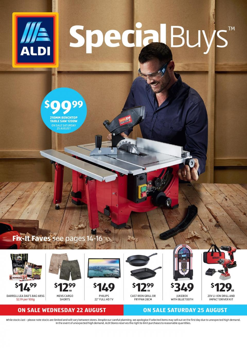 aldi special buys week 34 2018. Black Bedroom Furniture Sets. Home Design Ideas