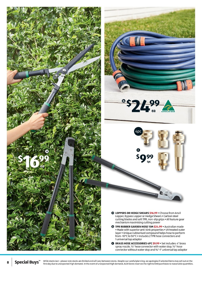 Aldi special buys week 39 2017 page 8 for Aldi gardening tools 2015
