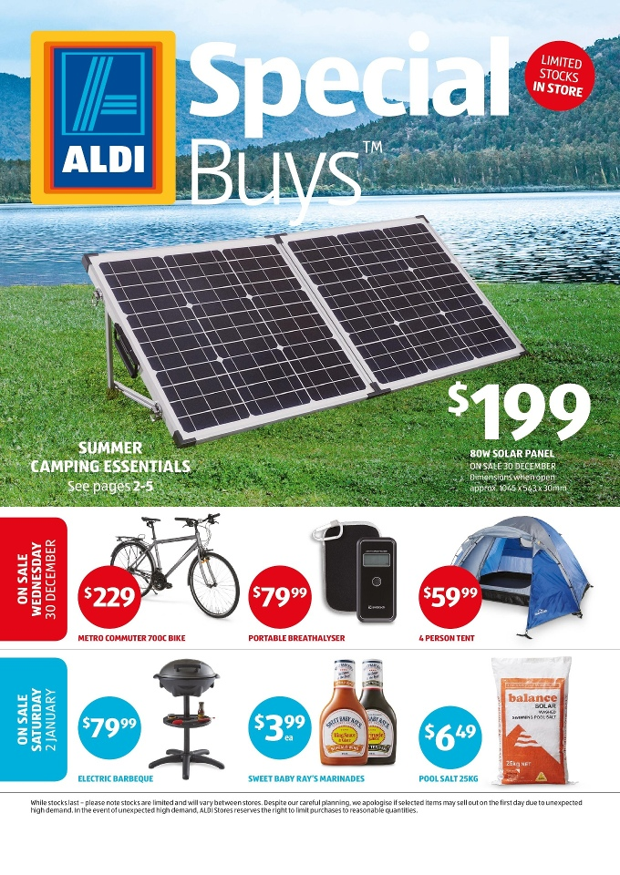 Aldi Special Buys Week 53 Boxing Day 2015