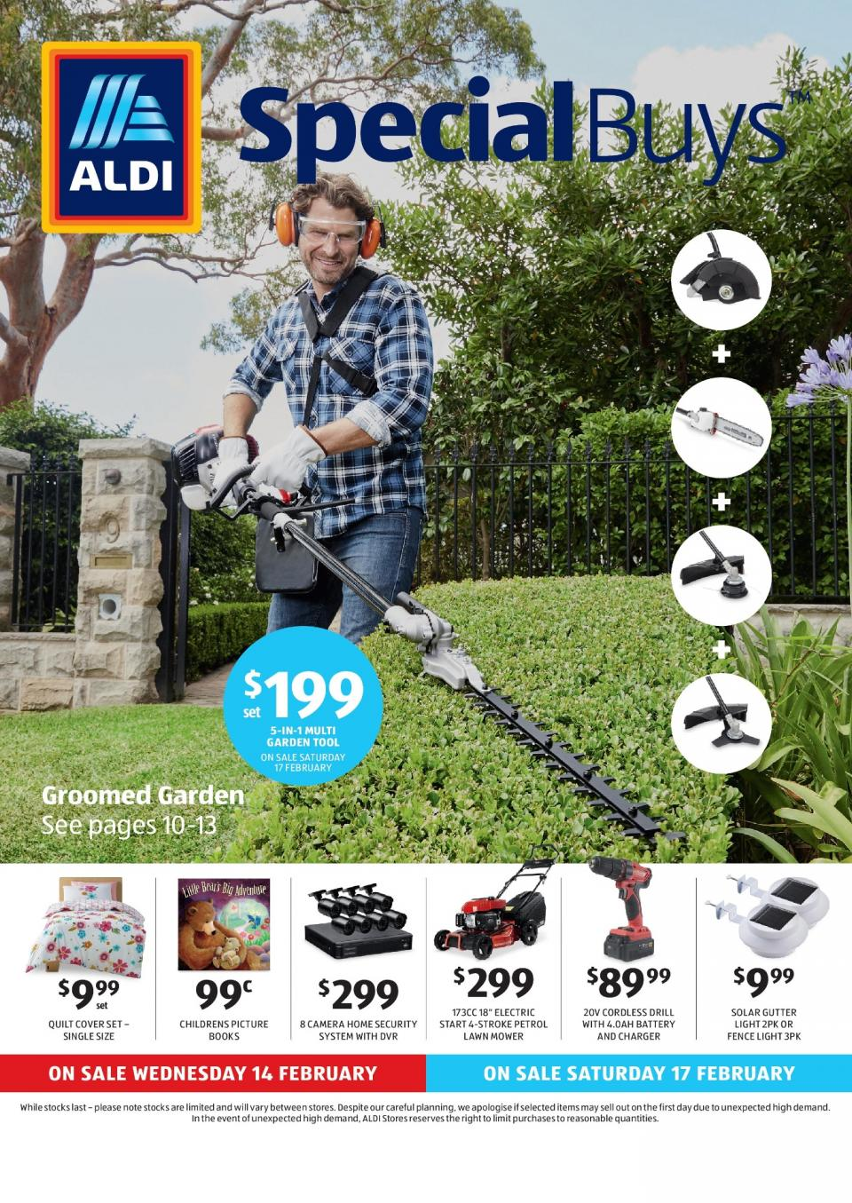 Aldi special buys week 7 2018 for Aldi gardening tools 2015