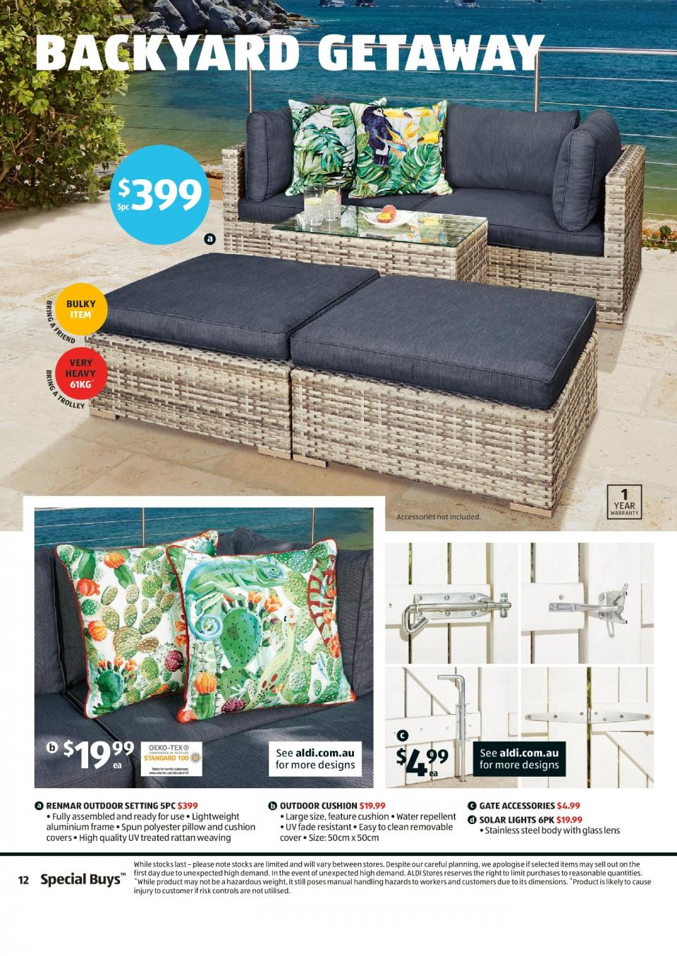 aldi special buys week 7 2019 page 10. Black Bedroom Furniture Sets. Home Design Ideas