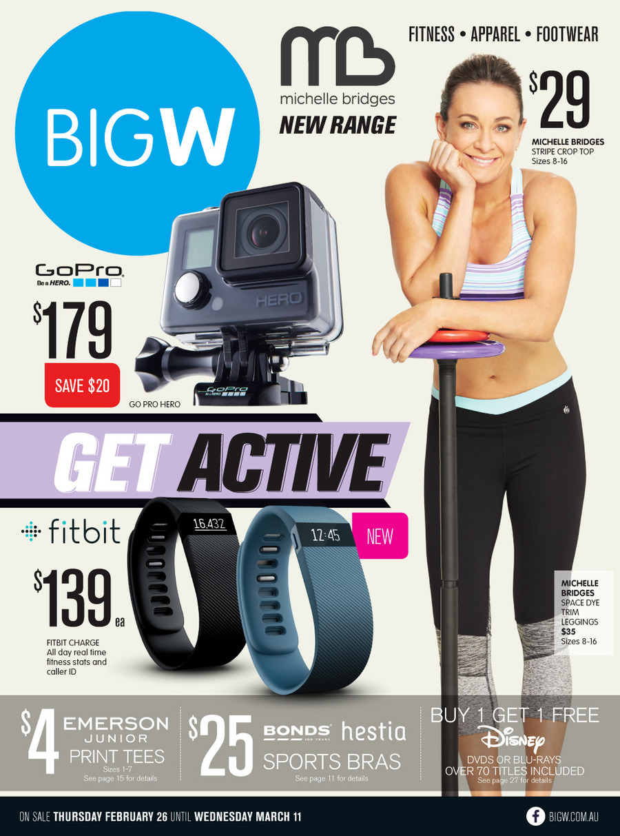 big w catalogue active wear february preview 2015