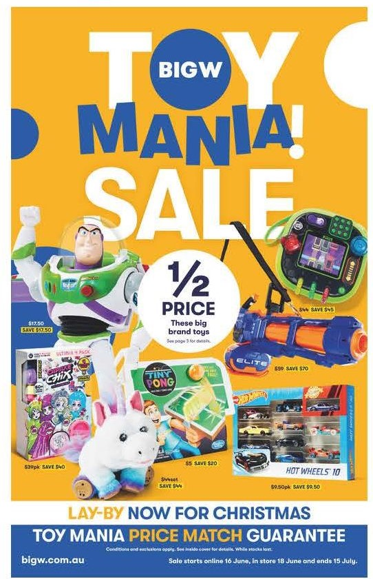 big w catalogue toy mania sale 2020