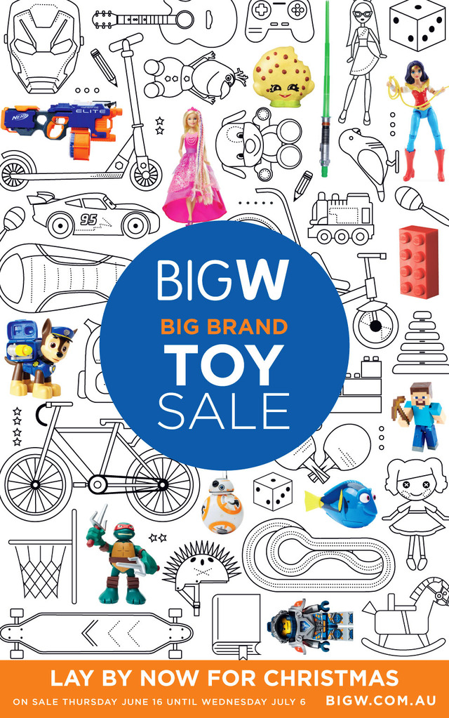 Big W Catalogue Toy Sale 16 June - 6 July 2016