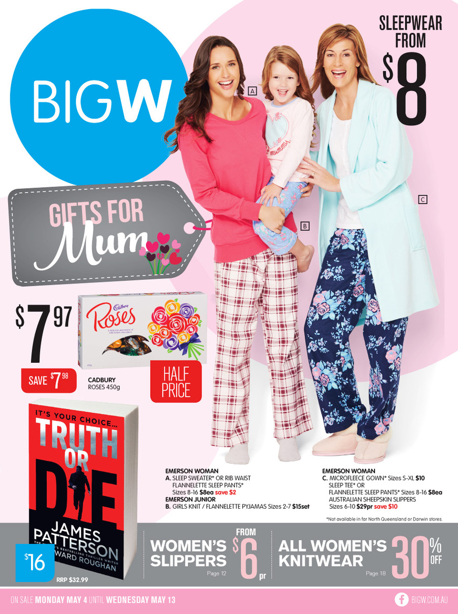 Big W Mothers Day Catalogue 4 May 2015