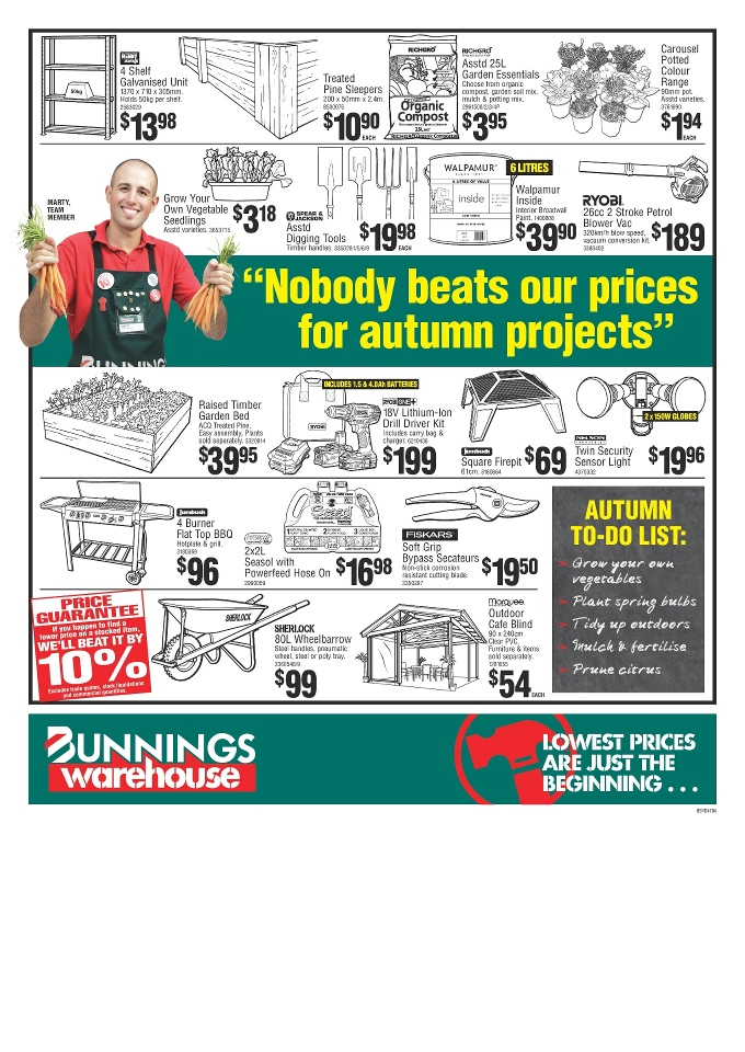 Bunnings Catalogue April 2015 All Products