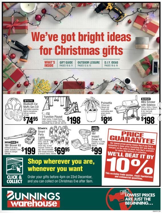bunnings catalogue december christmas 2019