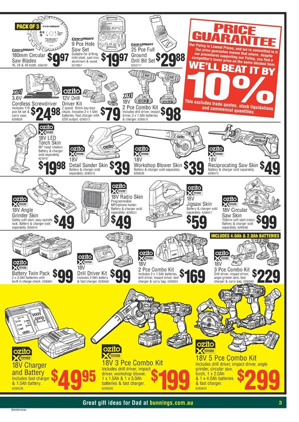bunnings catalogue fathers day 2017