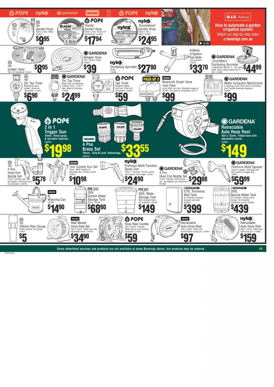 Bunnings catalogue march 2018 page 15 for Gardening tools bunnings