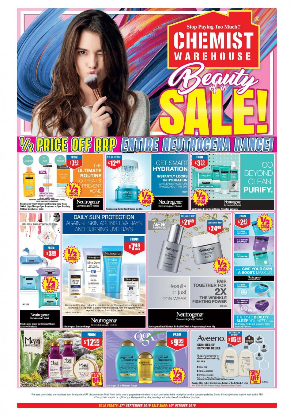 chemist warehouse catalogue 27 sep 10 oct 2019
