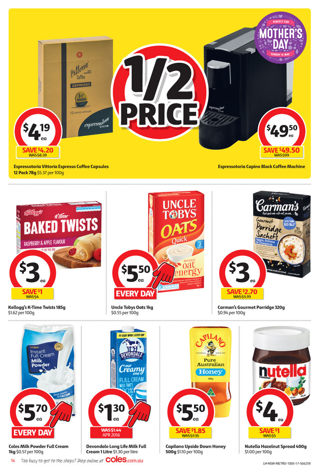 coles catalogue 10 may 2017