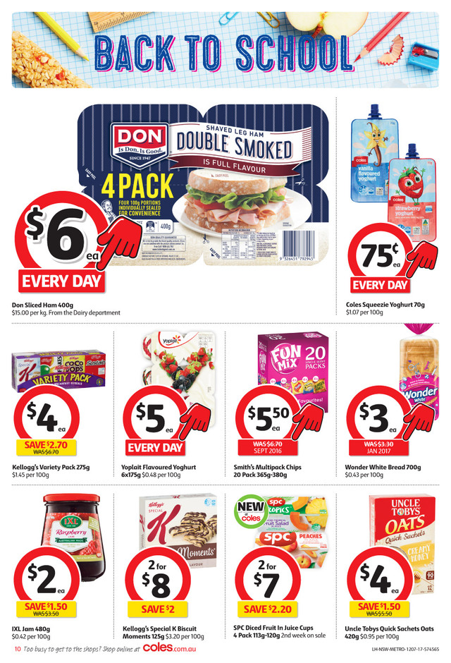 coles catalogue 12 july 2017