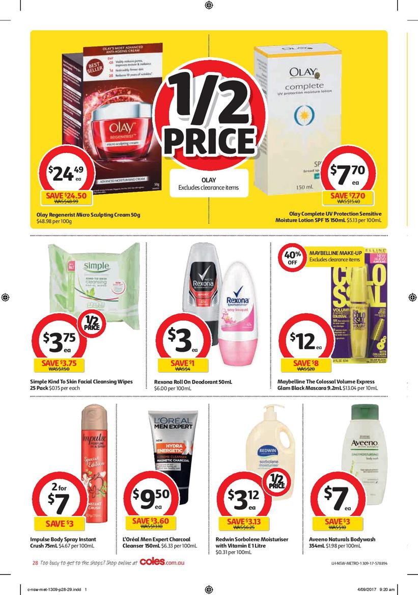 coles catalogue 13 september 2017 deals