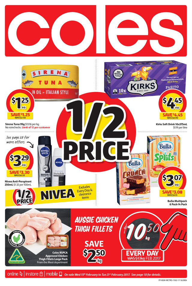 coles catalogue 15 february 2017