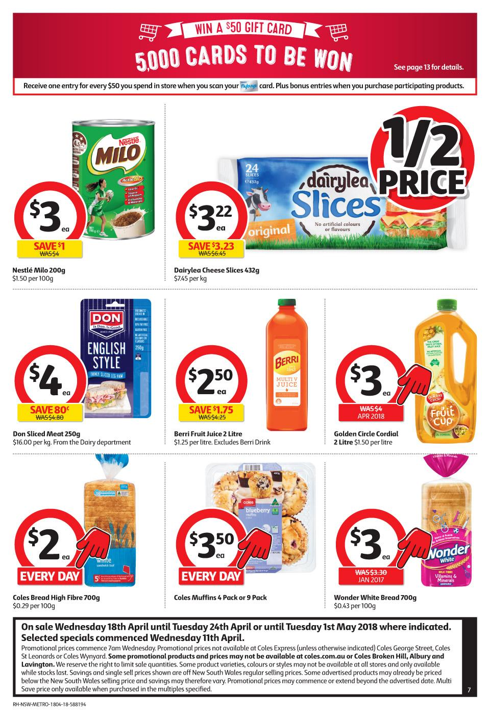 coles catalogue 18 april 2018