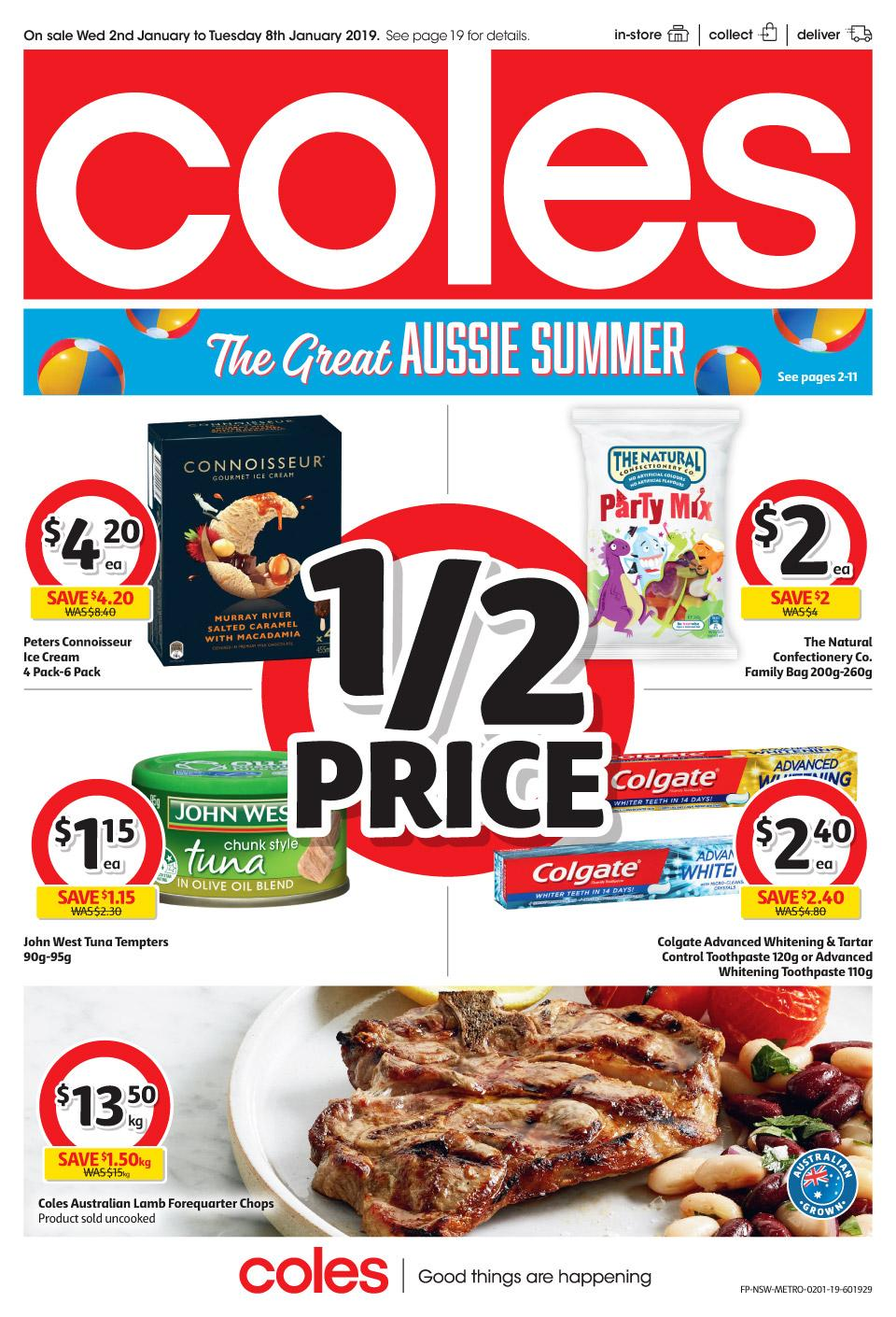 coles catalogue 2 jan 2019