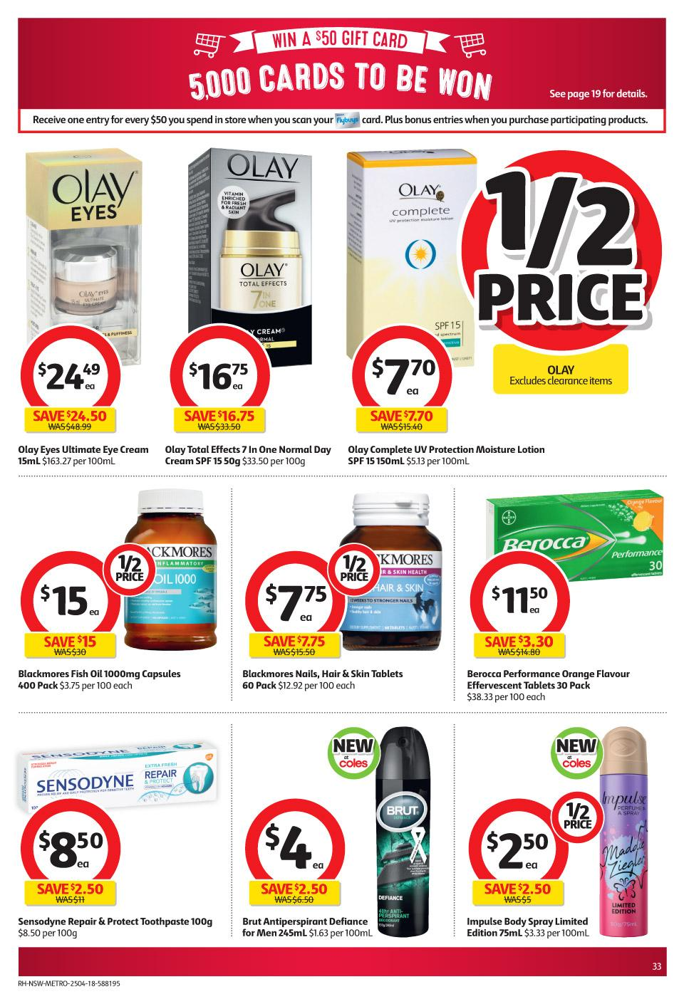 coles catalogue 25 april 2018