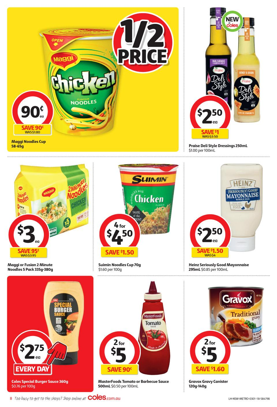 coles catalogue 3 january 2018