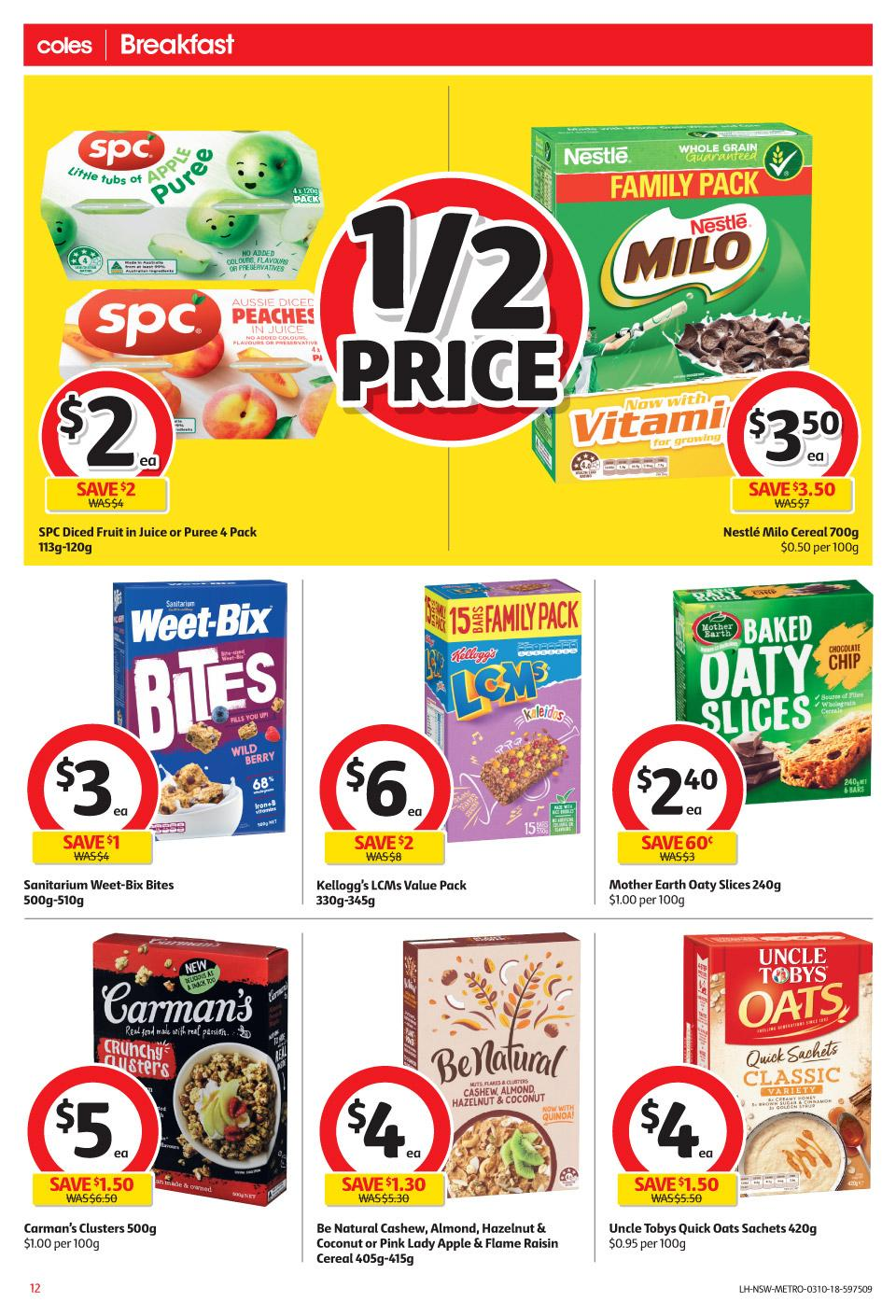 coles catalogue 3 oct 2018