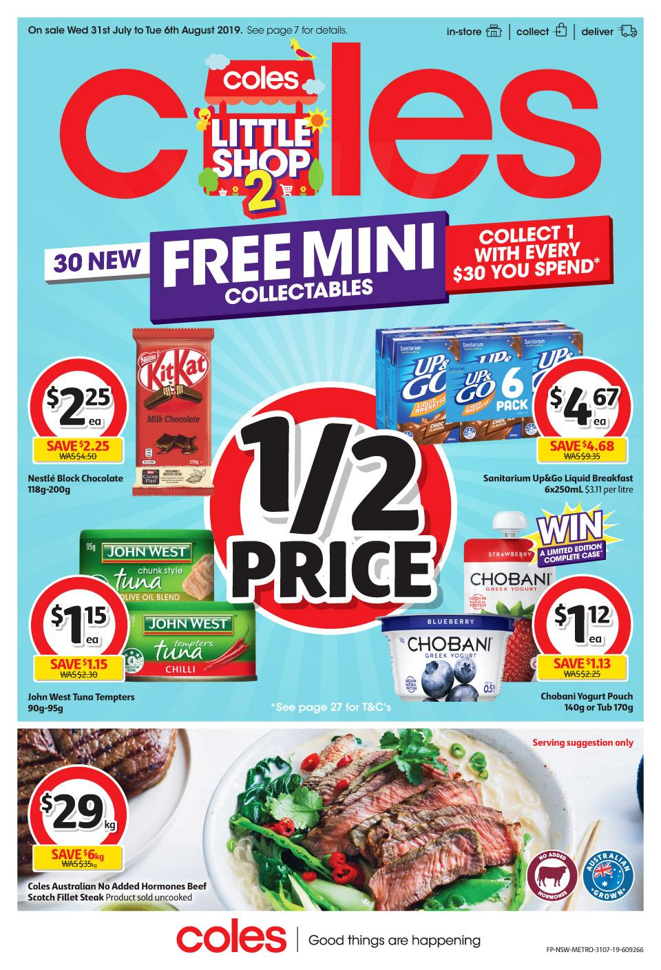 coles catalogue 31 jul 6 aug 2019
