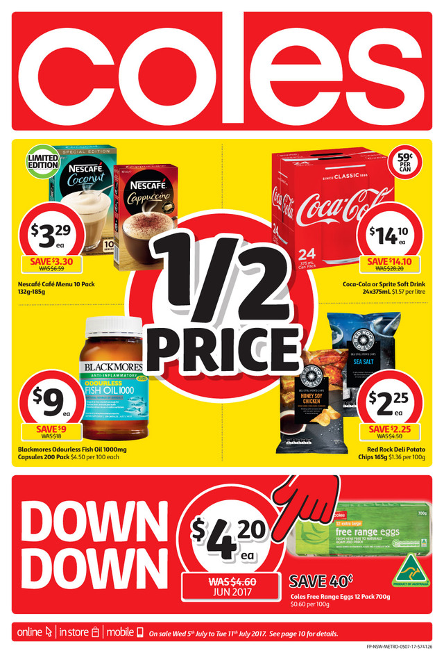 coles catalogue 5 july 2017