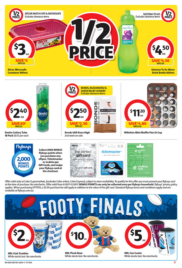 coles catalogue 6 september 2017