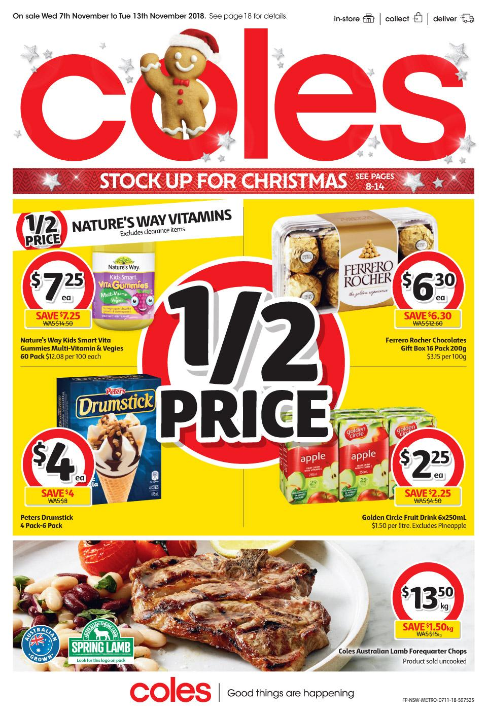 coles catalogue 7 nov 2018