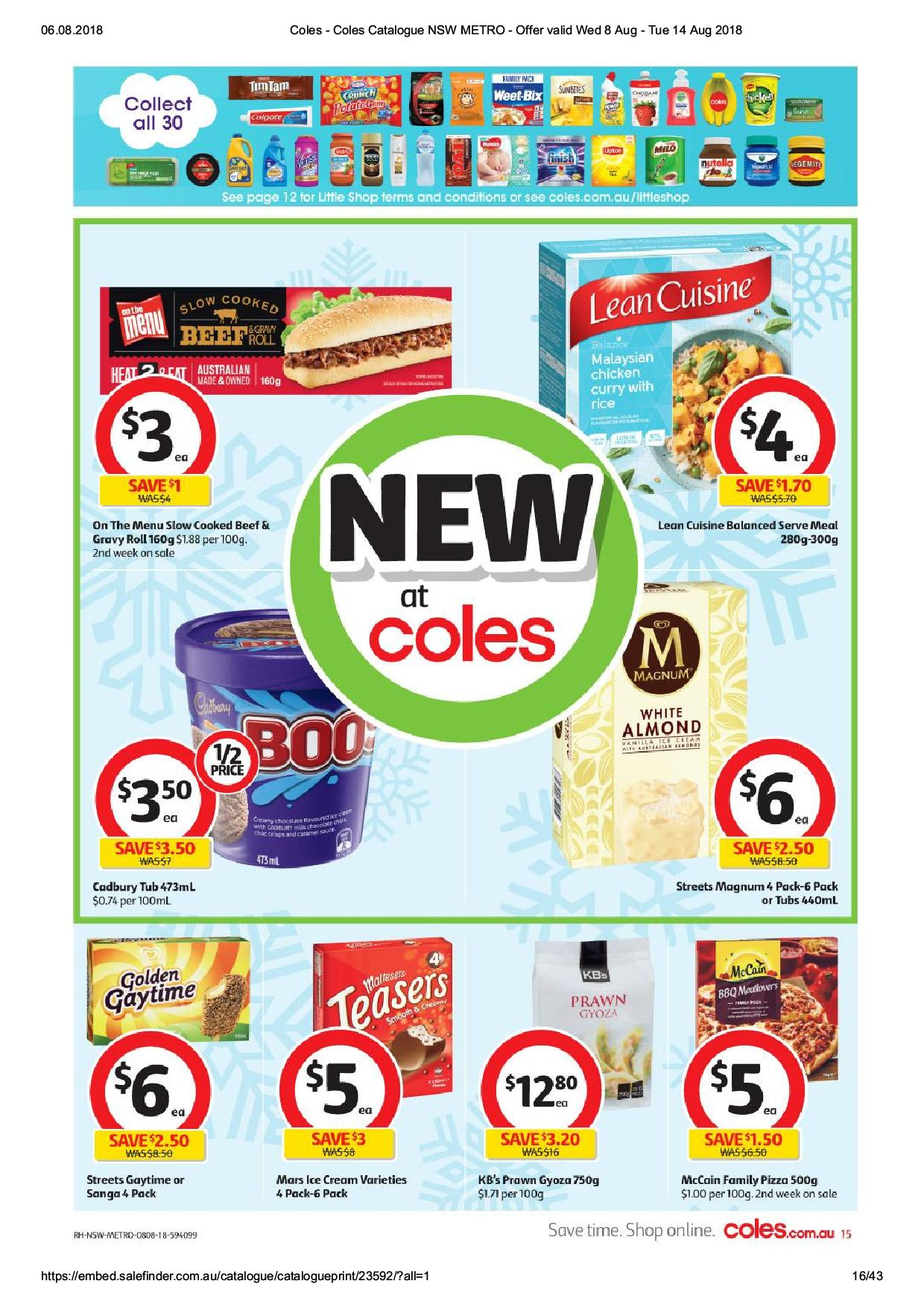 coles catalogue 8 aug 2018