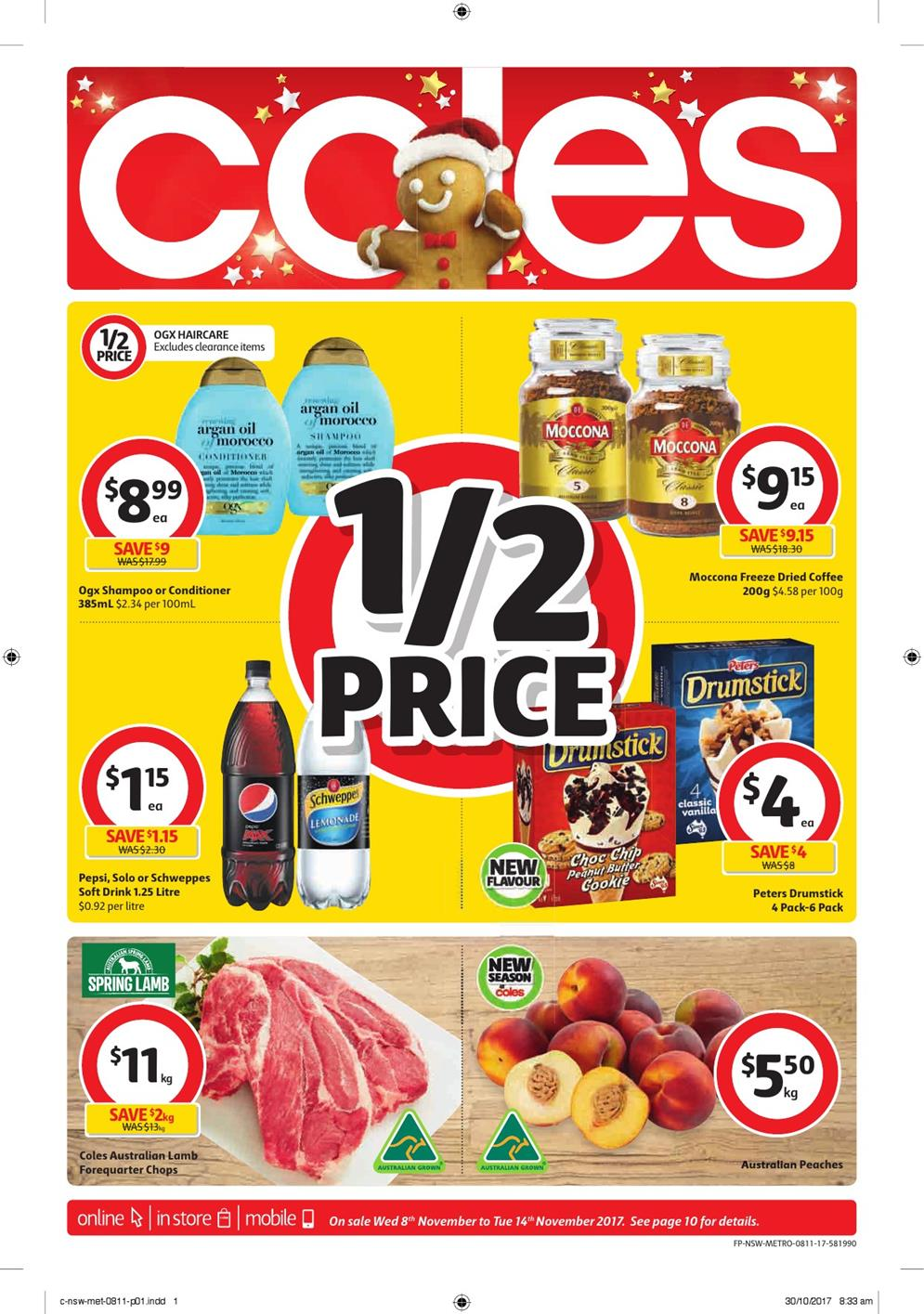 coles catalogue 8 november 2017