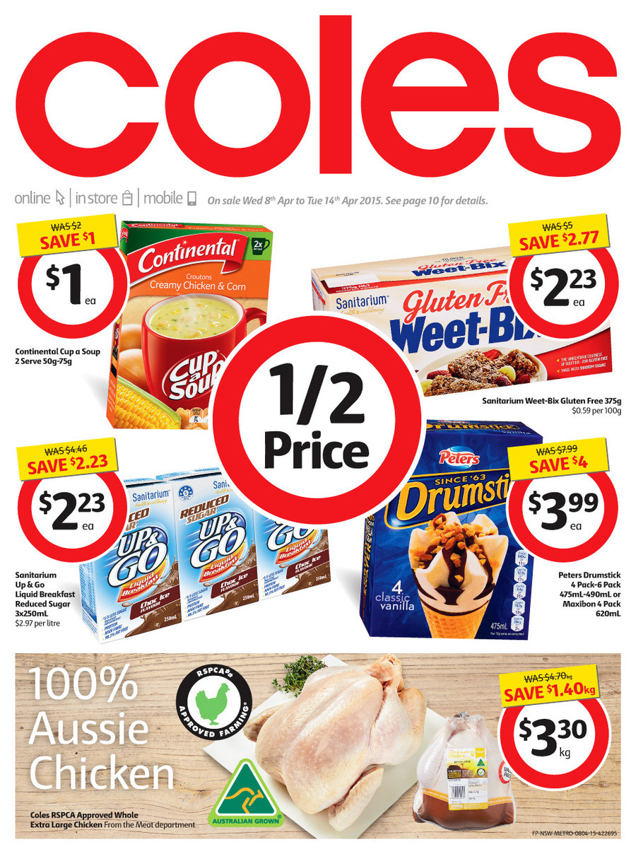 coles catalogue 8th april 2015