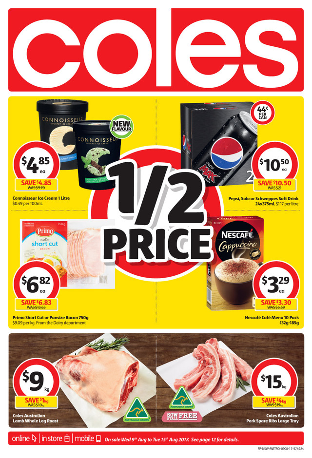 coles catalogue 9 august 2017