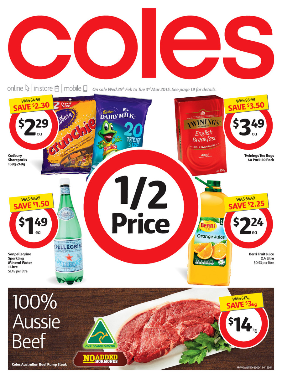 coles catalogue february latest specials 2015