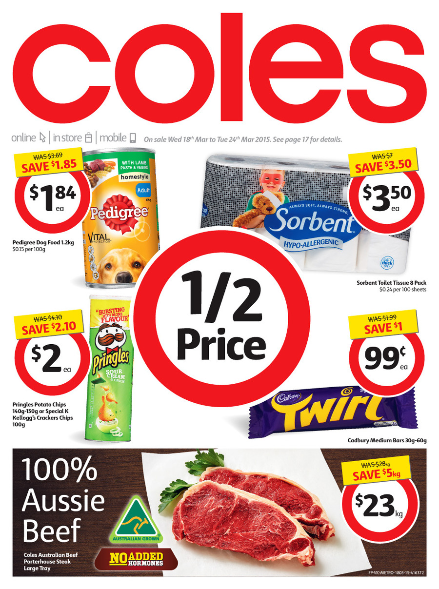 Coles Catalogue Weekly Specials 18th March 2015