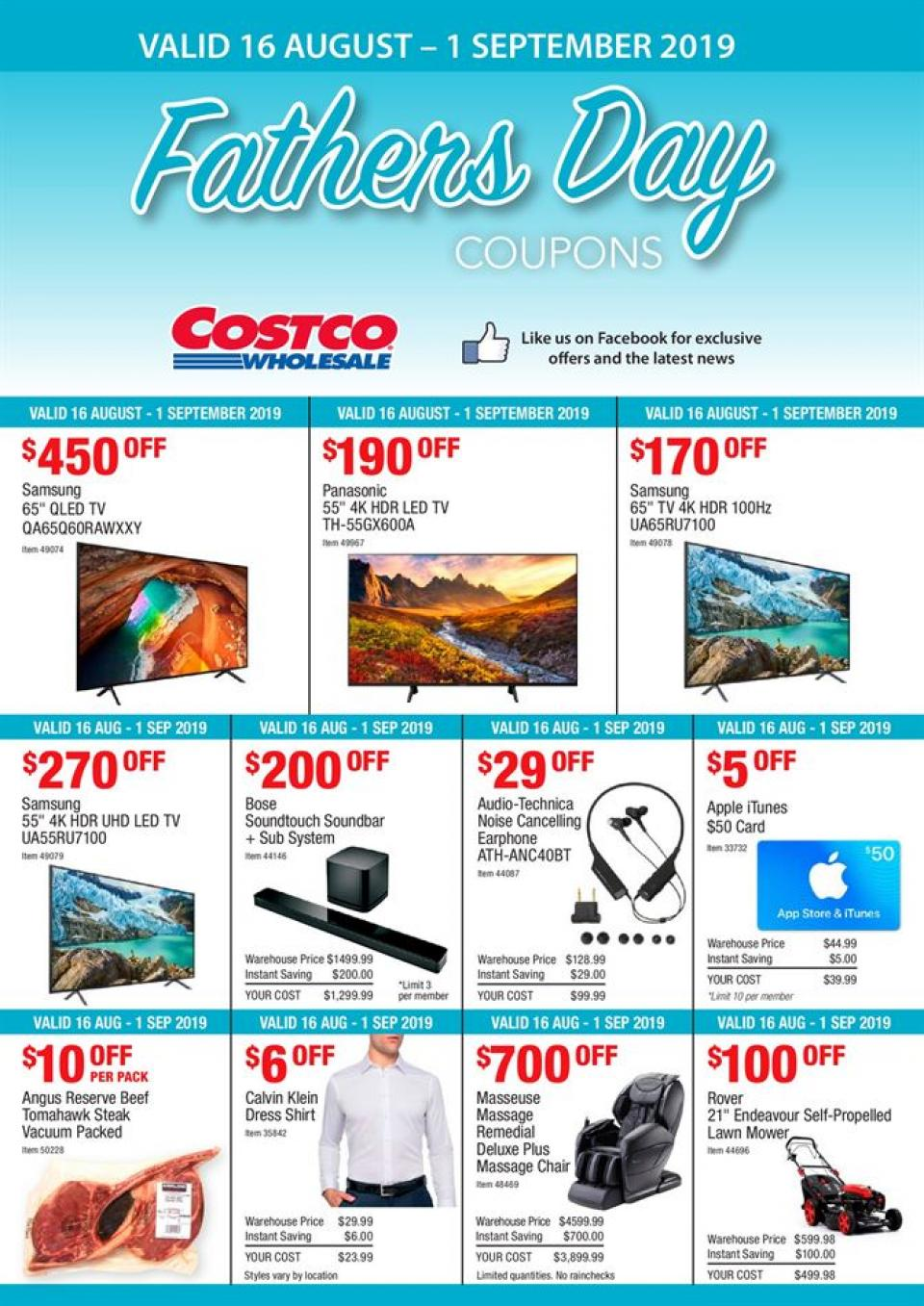 costco catalogue 16 aug 1 sep 2019