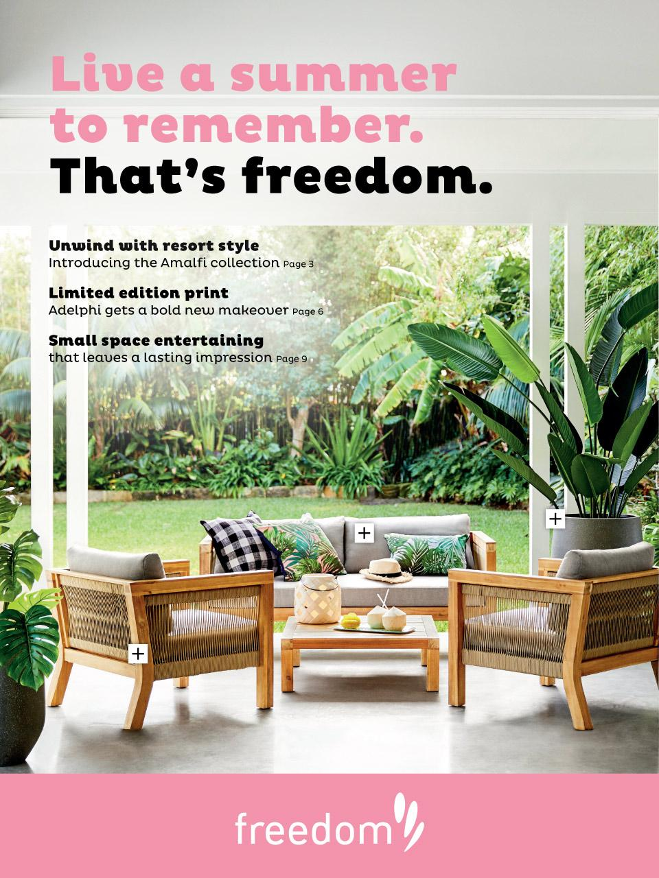Freedom furniture outdoor catalogue 6 sep 1 mar 2019