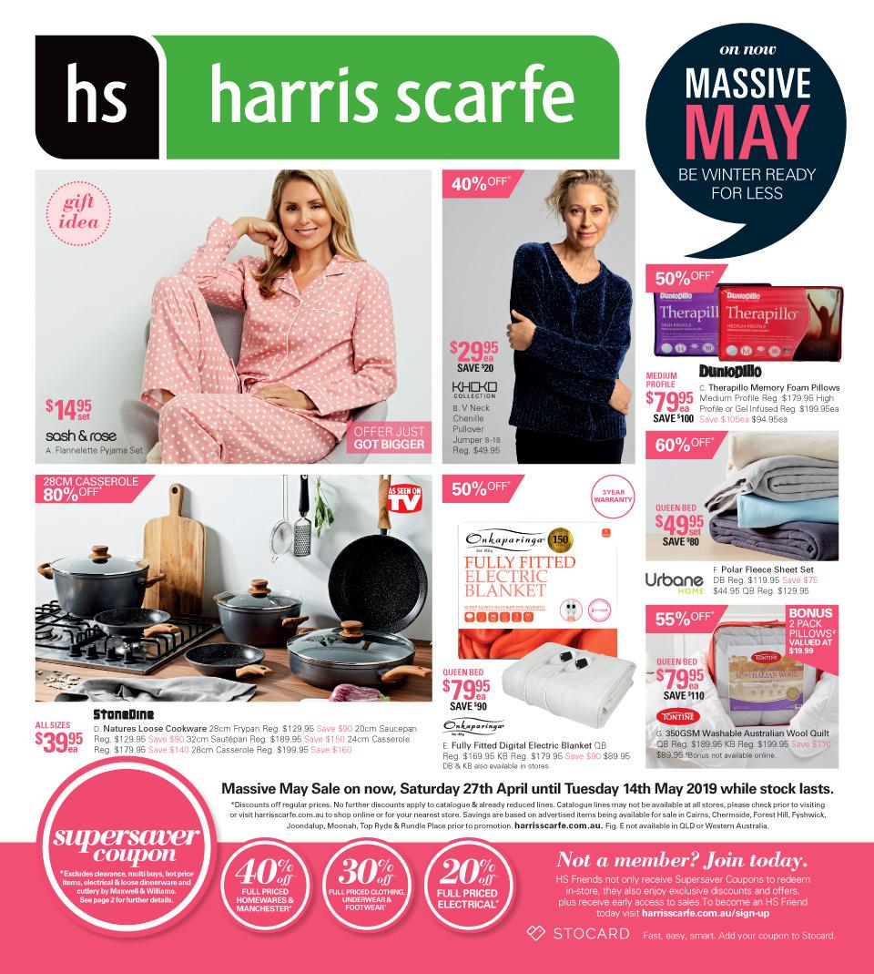 harris scarfe catalogue 27 apr 14 may 2019
