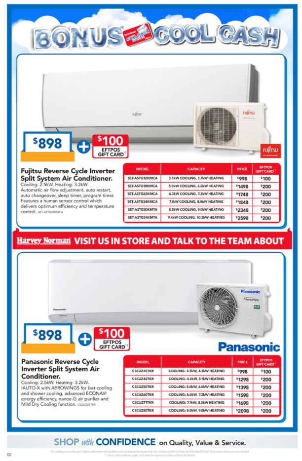 harvey norman catalogue air conditioning 2017