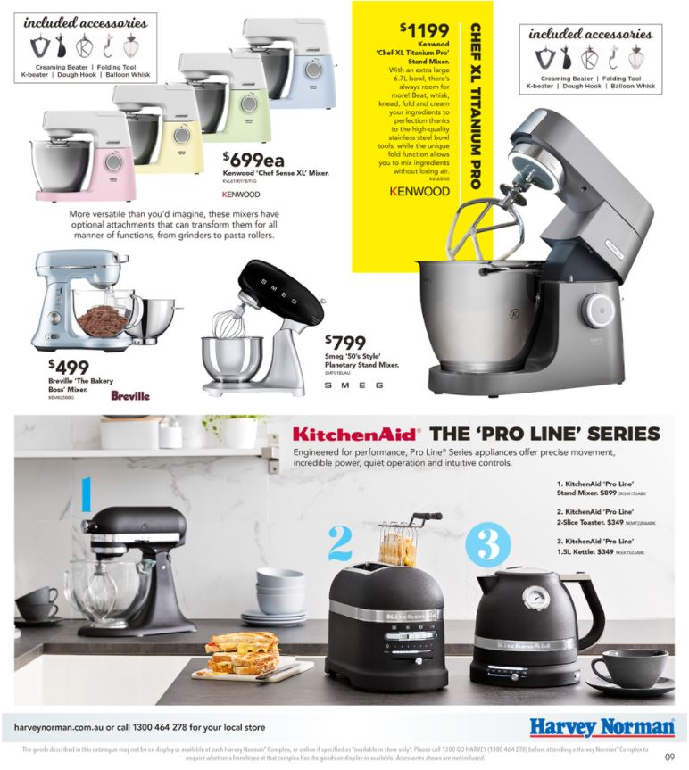 harvey norman catalogue appliances march 2018