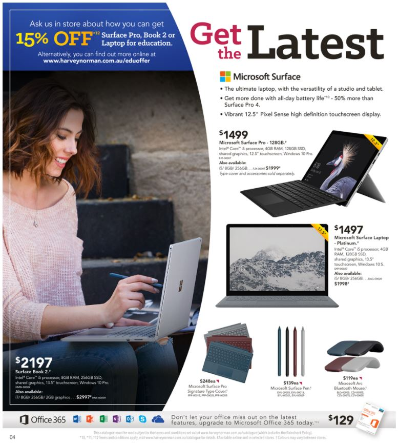 harvey norman catalogue back to work february 2018