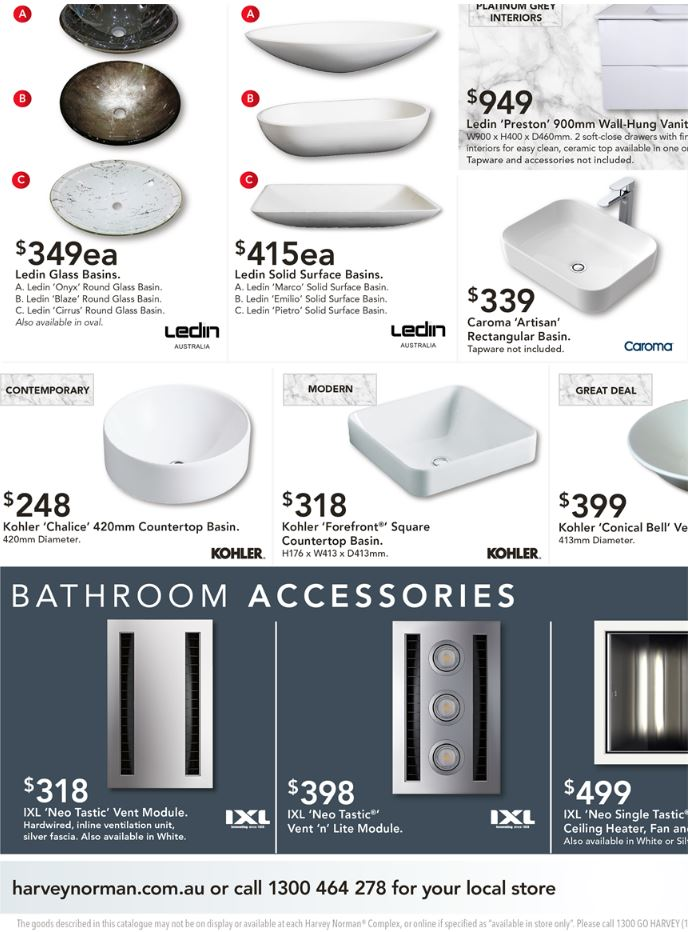 harvey norman catalogue bathroom march 2017