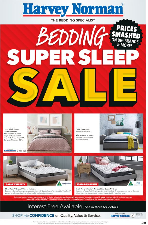 harvey norman catalogue bedding jul 2019