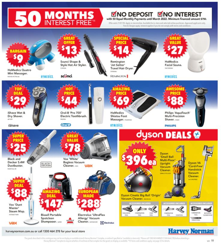 harvey norman catalogue clearance january 2018