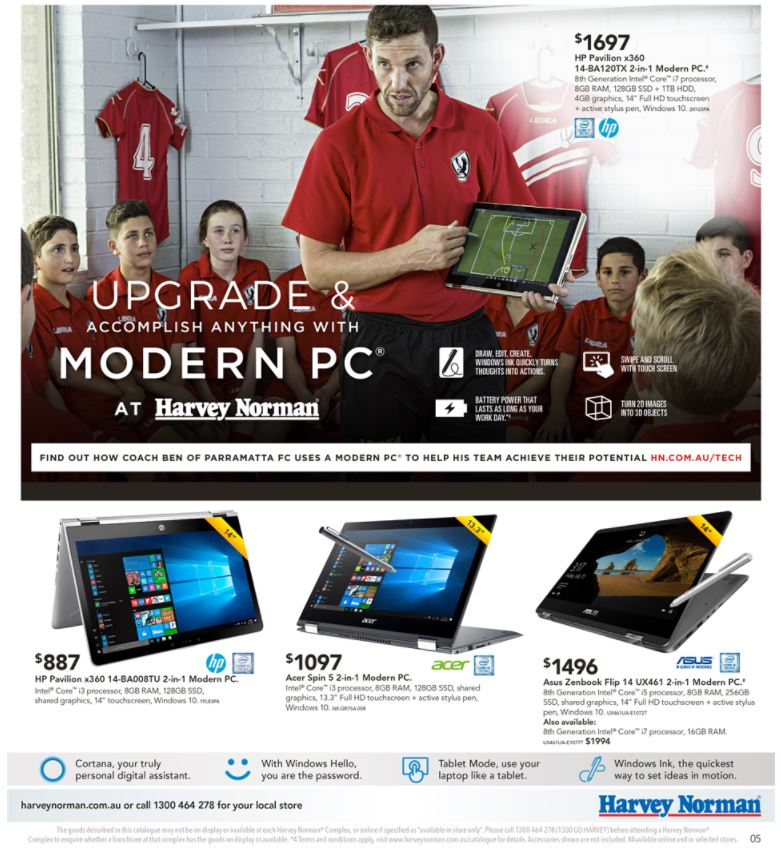 harvey norman catalogue computers march 2018