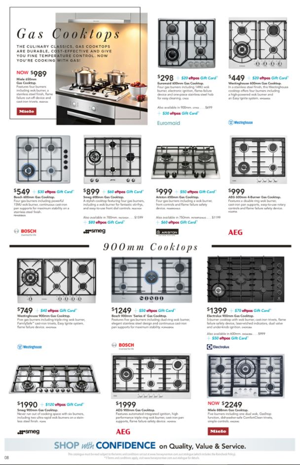 harvey norman catalogue cookware february 2018