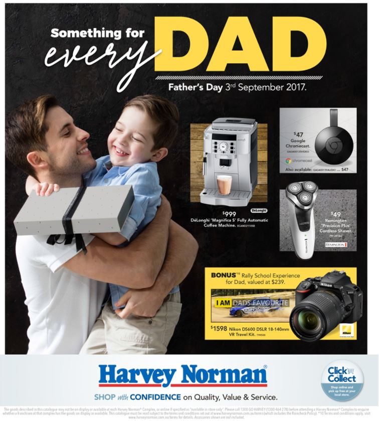 harvey norman catalogue fathers day 2017