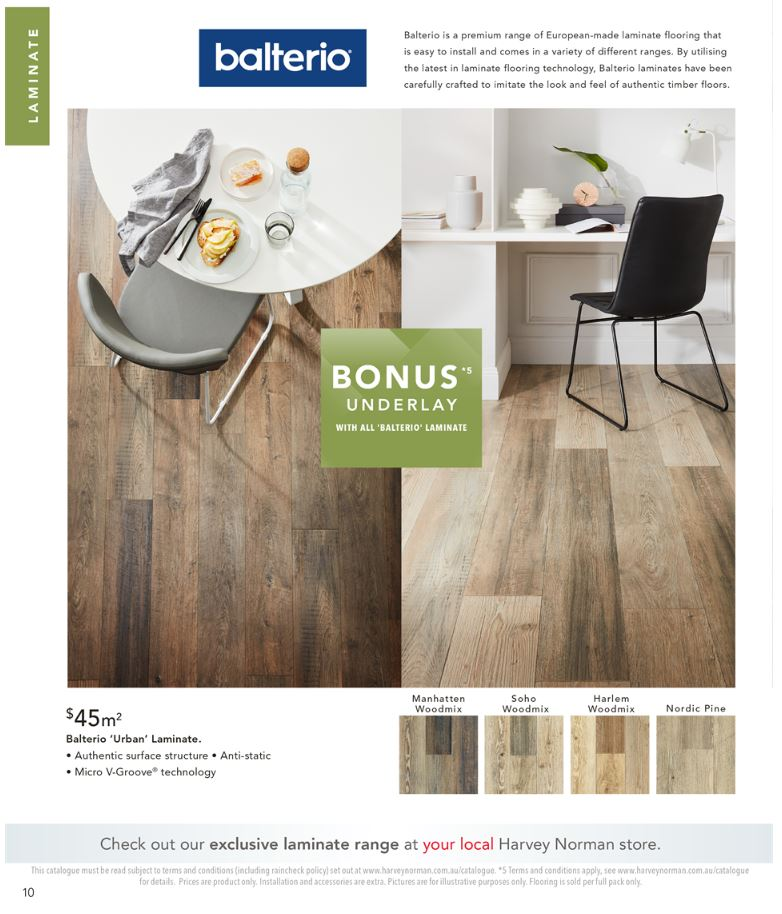 harvey norman catalogue flooring october 2018