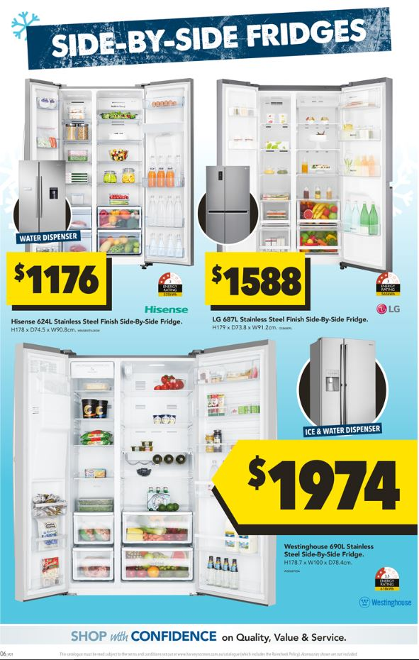 harvey norman catalogue fridges oct 2018
